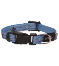 Obojek pre šteňatá - nylonový - Rogz YoYo - modrý - 0,8 x 14 - 21 cm