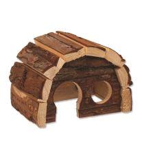 Domček SMALL ANIMAL Hobit drevený 15 x 10 x 9 cm