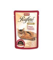 Kapsičky pre mačky Animonda Rafiné Soupe hydinové + králik + šunka 100 g
