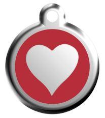 Red Dingo Známka červená vzor srdca