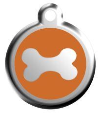 Red Dingo Známka oranžová vzor kosť