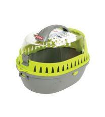 Prepravka pre hlodavce sivá / zelená 25x36x26cm medium