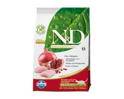 N&D Grain Free CAT Neutered Chicken & Pomegranate