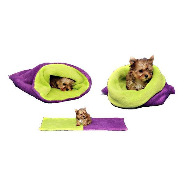 521963e160 Marie Brožková MARYS Spací vak 3v1 XL pre psov a mačky fialový so svetlo  zelenou