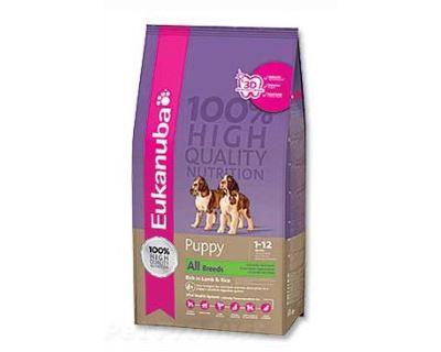Eukanuba Puppy & Junior Lamb & Rice 12 kg