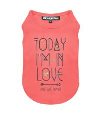 Tričko pro psa s nápisem Milk&Pepper - růžové - 23 cm