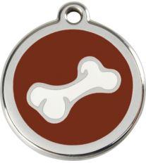 Red Dingo Známka hnedá vzor kosť