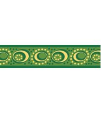 Red Dingo Obojek polos. 25 mm x 41-62 cm - Cosmos Green