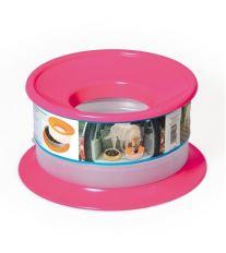 Nerozlitelná miska pro psy Argi - růžová - 22 x 12 cm
