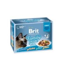 Akce Brit Premium Cat D Fillets in Gravy Family Plate 1020g