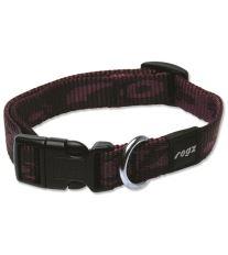 Obojok pre psov nylonový - Rogz Alpinist - fialový - 1,6 x 26 - 40 cm