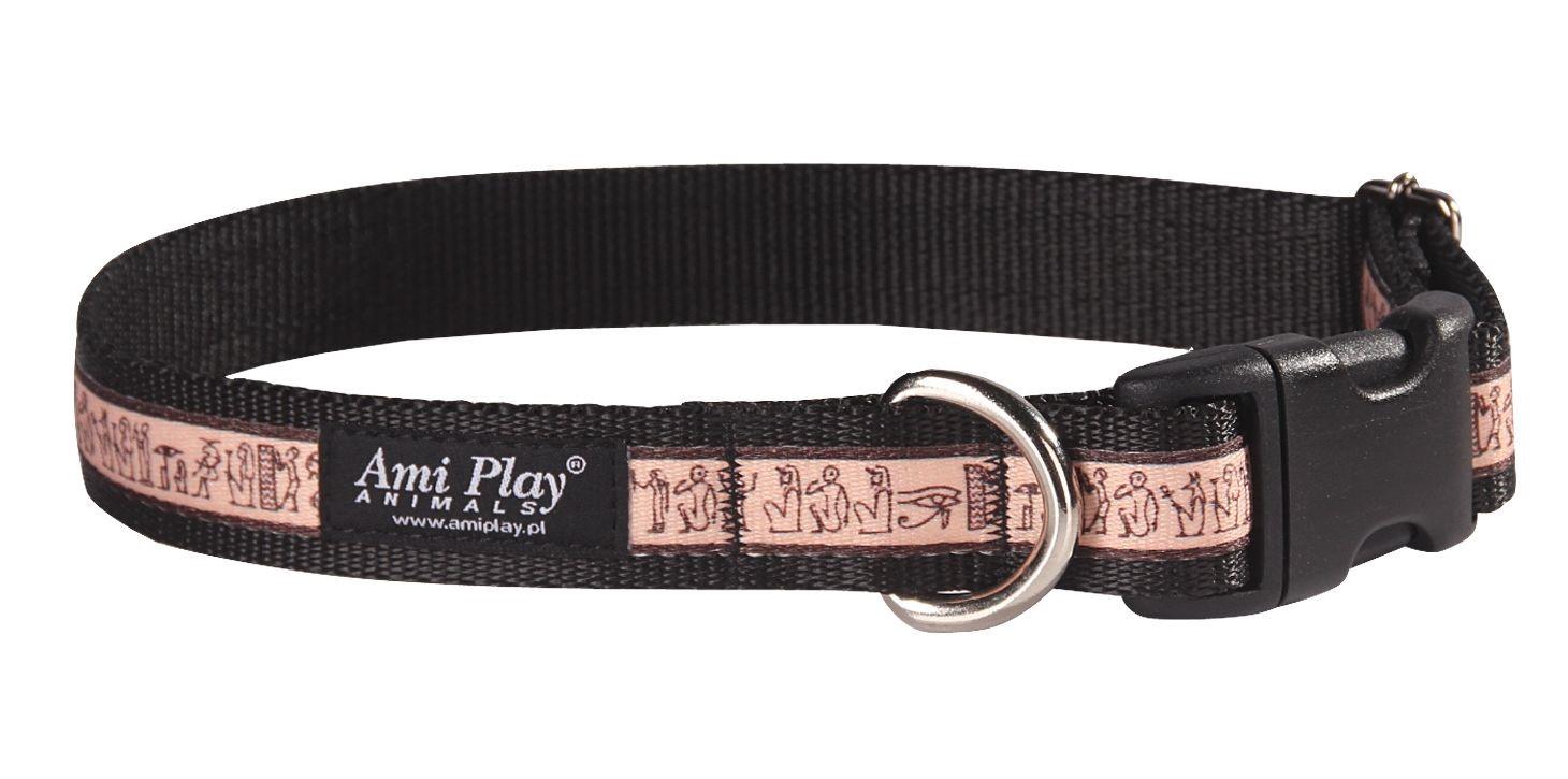 Obojek pro psa nylonový - černý s egyptským vzorem - 2 754e696250