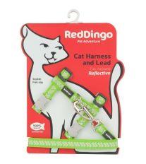 Postroj Red Dingo s vodítkem - reflexní - zelená ziggy