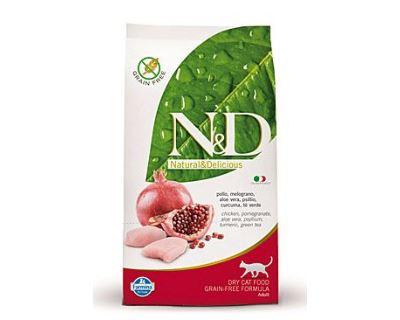 N&D Grain Free Cat Adult Chicken & Pomegranate - kuracie & granátové jablko bezobilné pre dospelé mačky