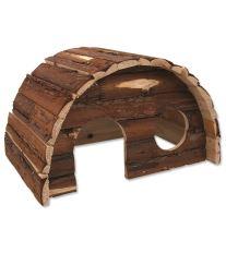 Domček SMALL ANIMAL Hobit drevený 36,5 x 22 x 20 cm