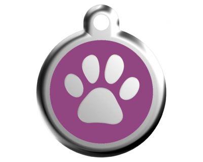 Red Dingo Známka fialová vzor labka