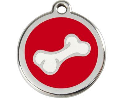 Red Dingo Známka červená vzor kosť