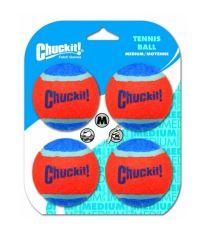 Chuckit! loptičky tenisové oranžovo modré - veľkosť M, 6,5 cm, 4 ks