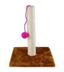 Hračka kočka škrábací věž s míčkem 30x30x35cm