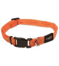 Obojok pre psov nylonový - Rogz Alpinist - oranžový - 1,1 x 20 - 32 cm