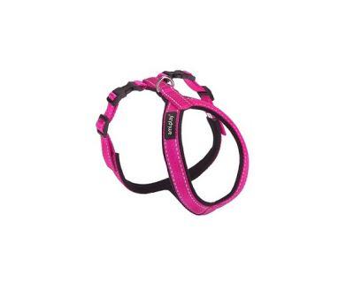 Postroj pro psa nylonový reflexní - růžový - 2 x 47 x 50 - 62 cm