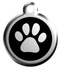 Red Dingo Známka čierna vzor labka