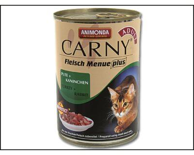 Animonda Carny Konzerva - morka & králik pre dospelé mačky 400 g