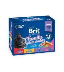 Brit Premium Cat kapsa Family Plate 1200 g (12x100 g)