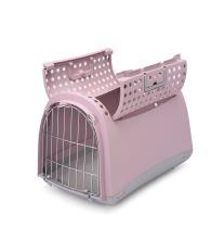 Prepravka pre mačky a psy Cabrio Argi - ružová - 50x32x34,5 cm