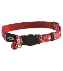 Obojok ROGZ SilkyCat Red Filigree S