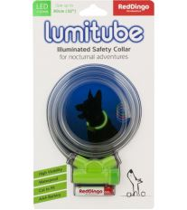 Obojok pre psov svietiace - Red Dingo Lumitube led - zelený - 15 - 80 cm