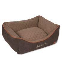 Scruffs Thermal Box Bed Termálne pelech hnedý - veľkosť S, 50x40 cm