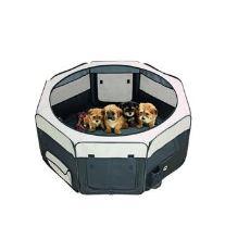 Box sklad. nylon šteňa 92x92x43cm grey / black KAR 1ks