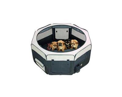 Box sklad. nylon šteňa 116x116x48cm grey / black KAR 1ks