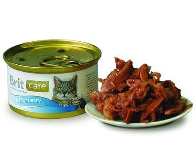 Brit Tuna & Turkey - konzerva tuniak & morka pre mačky 80 g