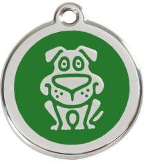 Red Dingo Známka zelená vzor pes