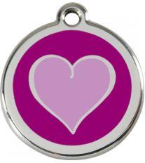 Red Dingo Známka fialová vzor srdca