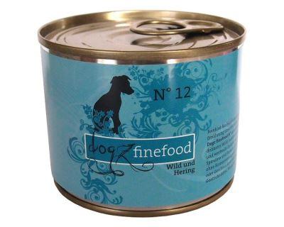 Dogz Finefood No.12 Konzerva - zverina & sleď pre psov