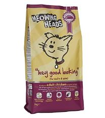 Meowing Heads Hey Good Looking - kuracie & ryby pre lesklú srsť mačiek