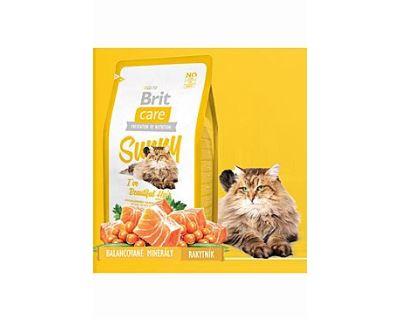 Brit Cat Sunny I`ve Beautiful Hair - losos a ryža pre starostlivosť o srsť 400 g