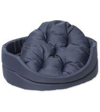 Pelíšek DOG FANTASY ovál s polštářem tmavě modrý 54 cm