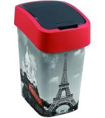 Curver odpadkový koš, FLIP BIN, vzor Paříž, 25l
