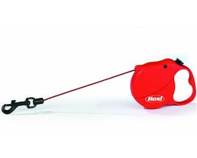 Flexi Mini 3 samonavíjacie vodítko červené, 3m/8kg