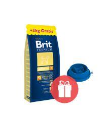 Brit Premium Junior M 15 kg + miska ZADARMO