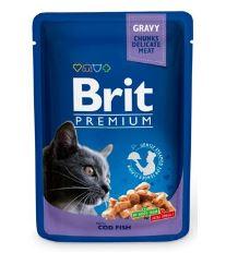 Brit Premium Cat Cod Fish - kapsička treska v omáčke pre mačky 100 g