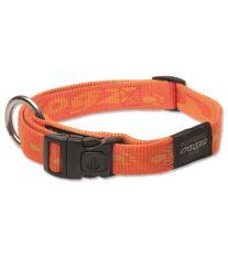 Obojek pro pse nylonový - Rogz Alpinist - oranžový - 2 x 34 - 56 cm