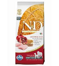 N&D Low Grain Dog Light M/L Chicken & Pomegranate 12 kg