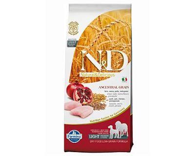 N&D Low Grain Dog Light M/L Chicken & Pomegranate 12 kg