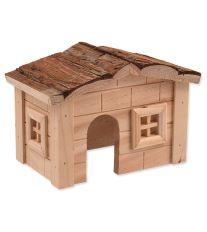 Domček SMALL ANIMAL drevený jednoposchodový 20,5 x 14,5 x 12 cm
