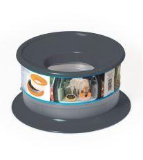 Nerozlitelná miska pro psy Argi - černá - 22 x 12 cm